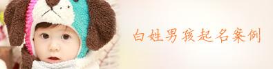 白姓男孩起名案例(三)